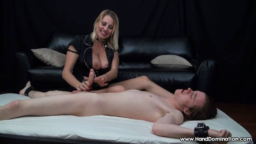 Dominant milf dallas gives femdom handjob to bound cock 10